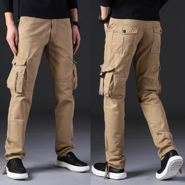 NIGRITY New 2018 autumn winter mens Cargo Pants For Men Military Straight Trousers Casual Cotton joggers Long Pants Plus Size 5
