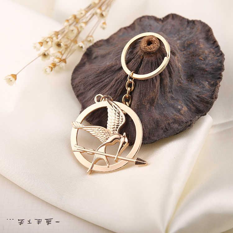Hunger Games Gantungan Kunci Burung Elang Panah Logo Gantungan Kunci Gantungan Kunci Rantai Cincin Vintage Fashion Hewan Perhiasan Pria Wanita Anak Grosir