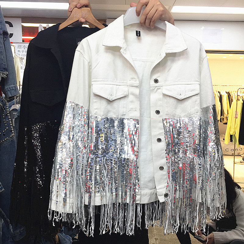 Fashion Sherhure Sequins Punk