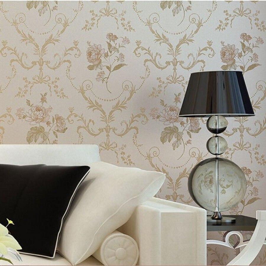 Beibehang papier peint pastorale douce damas damassé Floral luxe papier peint rouleau chambre décoration murale Papel De Paredes Para Sala