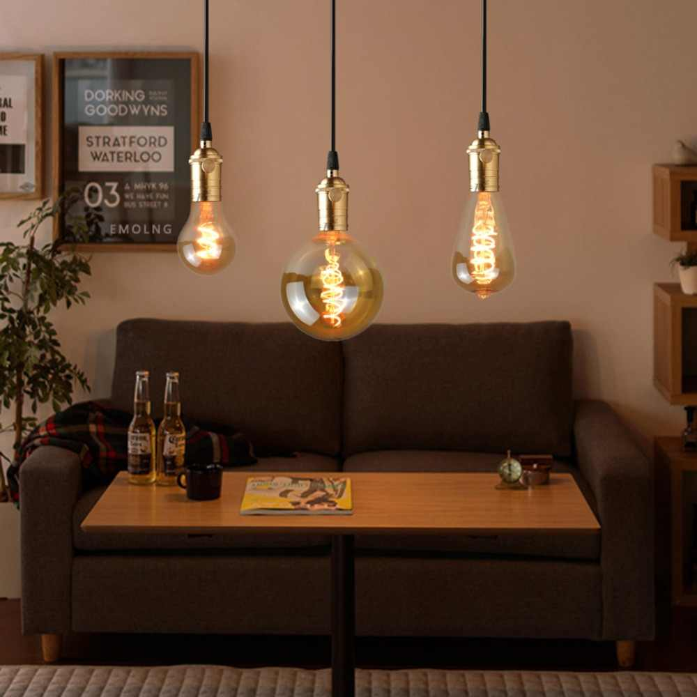 Vintage Night light COB LED Filament Bulb Edsion lamp E27 A60 ST64 A80 A95 A125 110V 220V Retro Indoor Decoration Bulb