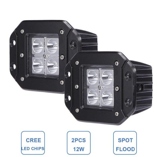 Aliexpresscom Buy 12W Offroad LED Work Light Flush Mount Bumper