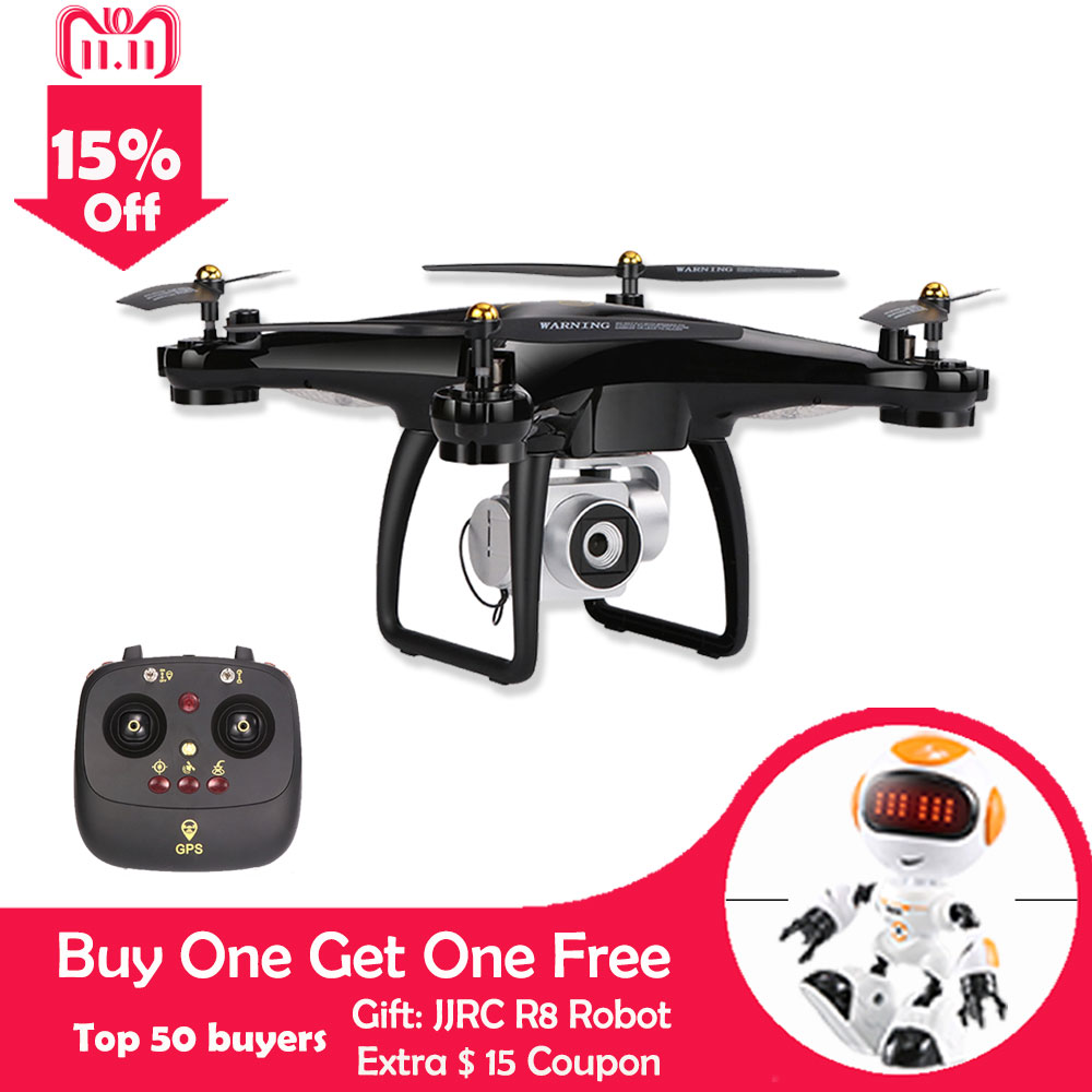 JJRC H68G RC Drone With Camera HD 1080P WIFI FPV Altitude Hold Profissional Drone GPS FPV RC Helicopter Quadcopter With Camera genuine original xiaomi mi drone 4k version hd camera app rc fpv quadcopter camera drone spare parts main body accessories accs