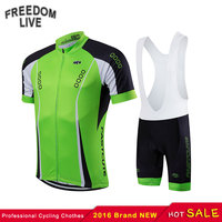 2016 Brand New FASTCUTE Cycling Clothing Quick Dry Short Sleeve Racing Bicycle Jersey Green Black