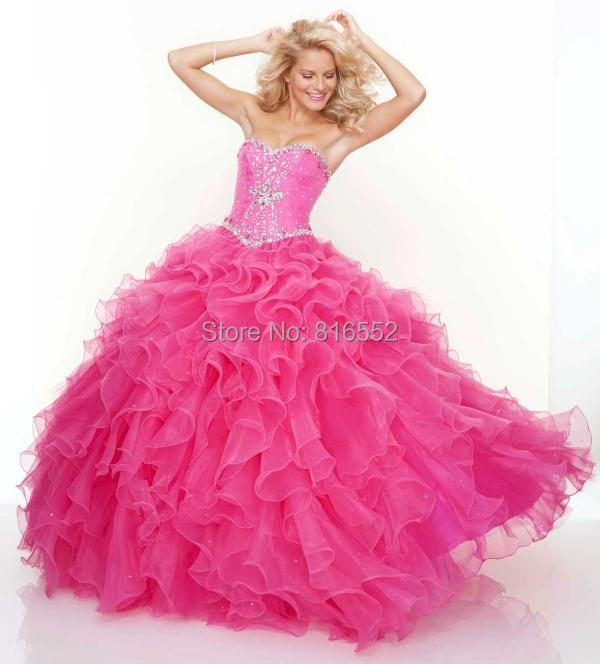 2018 New Gold Quinceanera Dresses Ball Gowns Sweetheart Beaded ...