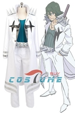 KILL la KILL Uzu Sanageyama Uniform Outfit Anime Halloween Cosplay Costume Men White Jacket Pants Free Shipping