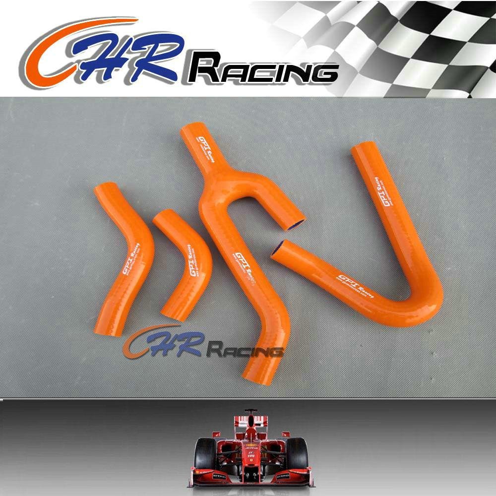 silicone radiator hose for KTM 250/300/380 SX/EXC/MXC 1998-2003 1999 2000 2001 2002 orange