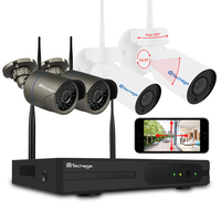 Techage 4CH 1080 P Wi Fi Беспроводной NVR PTZ CCTV камера безопасности системы 2MP ночное видение открытый дом наблюдения комплект 2 ТБ HDD