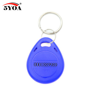 Image 5 - 100pcs Blue RFID 125 khz EM4100 Key Tag Keyfobs Ring Chip Keytab TK4100 Tags 125khz Read Only
