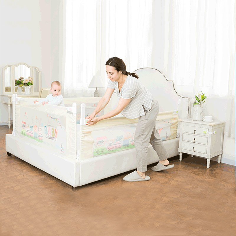 Lift Type Baby Bed Rail Baby Bed Safety Guardrail Upgrade Cot Playpen Security For Children Bed Fence Fit For All Type Bed baby bed rail 2 meters bed fence to prevent the child from fallingl stainless steel children bed rail