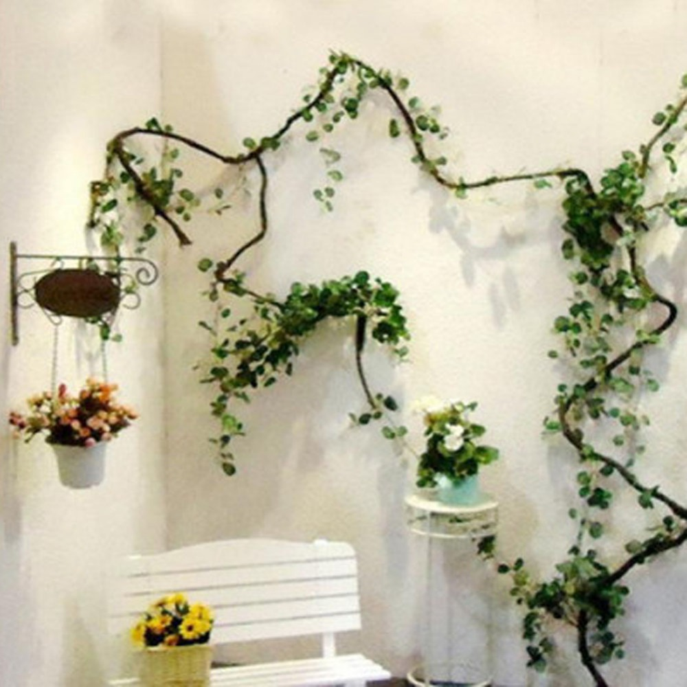 2 pcs 2.5 M  Decorative Flowers & Wreaths Hot Selling Artificial Ivy Leaf Garland Plants Vine Fake Foliage Flowers Home Decor