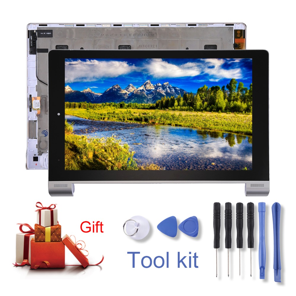 H New for Lenovo YOGA Tablet 10 / B8000 LCD Display&Touch Panel with Frame repair parts 10 1 for lenovo b8000 b8000h b8000 h 60046 yoga display assembly full lcd with frame digitizer touch screen 10 mcf 101 1093 v3