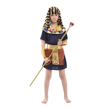 Boys Child Egyptian Pharaoh Costumes for Kids Boy Halloween Purim Party Carnival Cosplay B-0128 цена