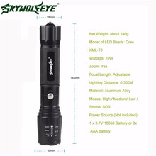 skywolfeye 5000LM G700 Tactical LED 18650 Flashlight X800 Zoom Super Bright Military Light Lamp L61216