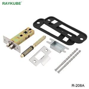 Image 5 - Блокировка двери RAYKUBE с паролем, цифровая механическая клавиатура с кодом, дверной замок без ключа, цинковый сплав, водонепроницаемый телефон