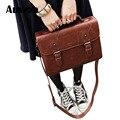 Tendências saco Do Mensageiro do sexo feminino retro couro PU saco de ombro da forma saco Do Mensageiro maleta bolsa das mulheres