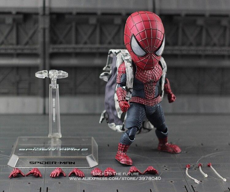 Disney Marvel Avengers Spiderman 18cm Q version Action Figure Anime Mini Decoration PVC Collection Figurine Toy model gift anime figure 7 cm q version 2pcs set ore no imouto ga konnani kawaii wake ga nai gokou ruri pvc action figure collection model