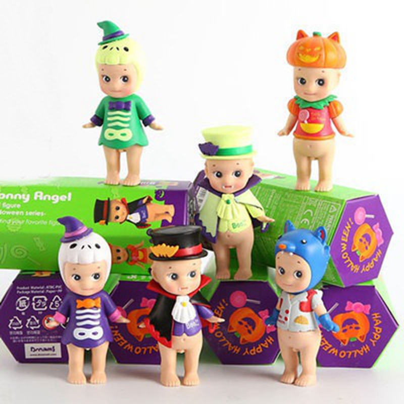 6Pcs/Set 6Style Mini Sonny Angel Halloween Series Cute PVC Action Figure Collectible Model Christmas Gift For kids Toy-in Action & Toy Figures from Toys & Hobbies
