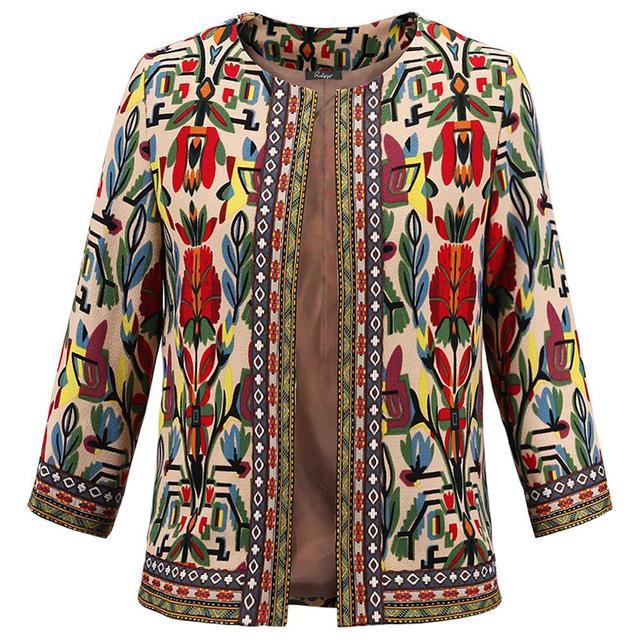 Doudoune Femme Novo Jaquetas de Verão Mulheres Novo Single Jaquetas Bomber Jacket Fresco flores Bordados Verão Mulheres Xale Casaco Curto