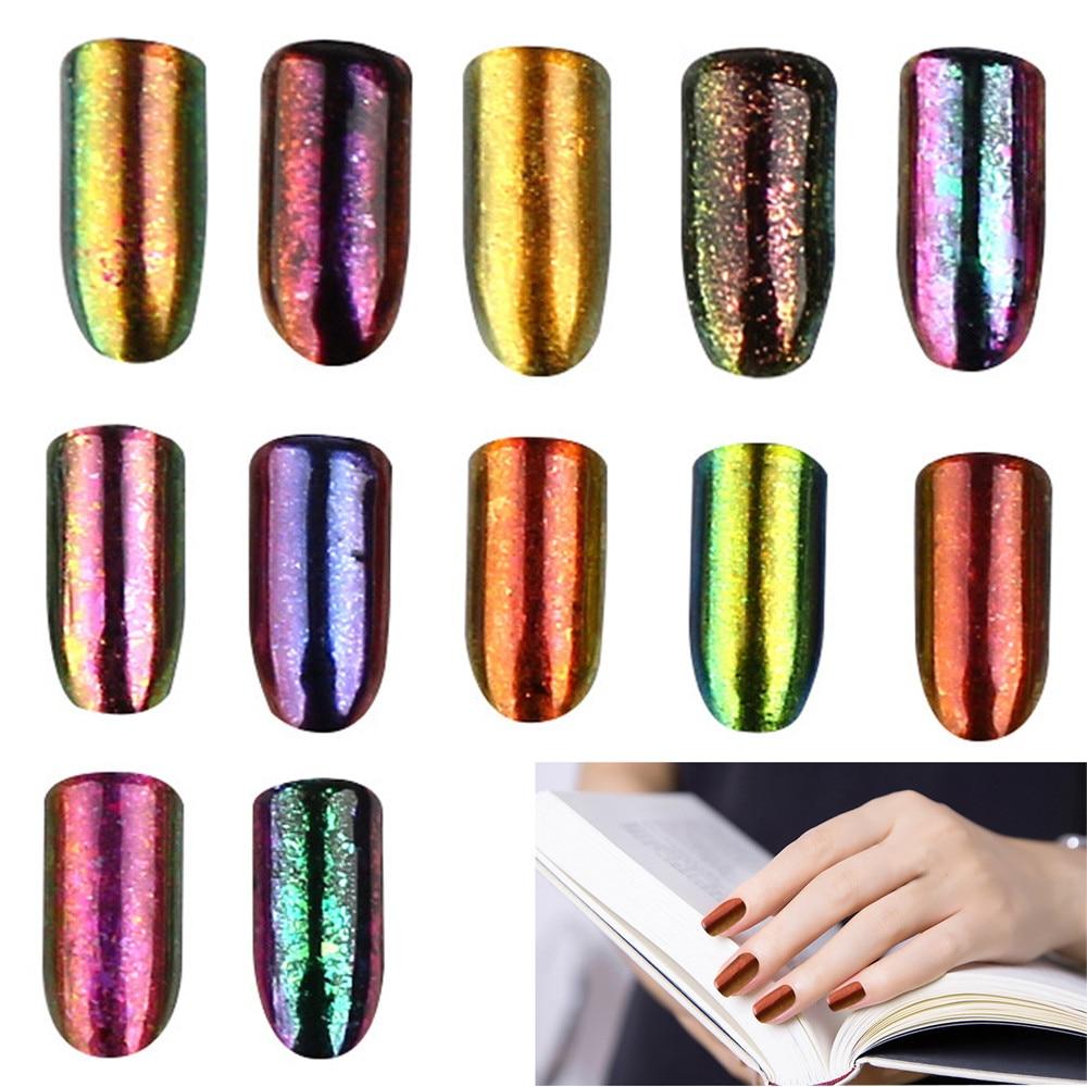 4g manicure sparkles for nails Box Optical nail art Discoloration Nail Glitter acrylic Powder Shinning Nail Powder Nail #79