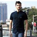 Alta calidad de la marca camisas de los hombres 2017 verano nueva casual de negocios camisa de lino hombres chemise homme men's clothing brand tamaño m/xxxl