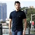 Camisas dos homens da marca de alta qualidade 2017 verão novo business casual camisa de linho homens chemise homme men's clothing tamanho marca m/xxxl