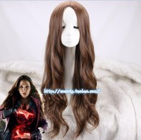 Cosplay Wig Scarlet Witch Wanda Django Maximoff Wavy Long Synthetic Hair for Adult