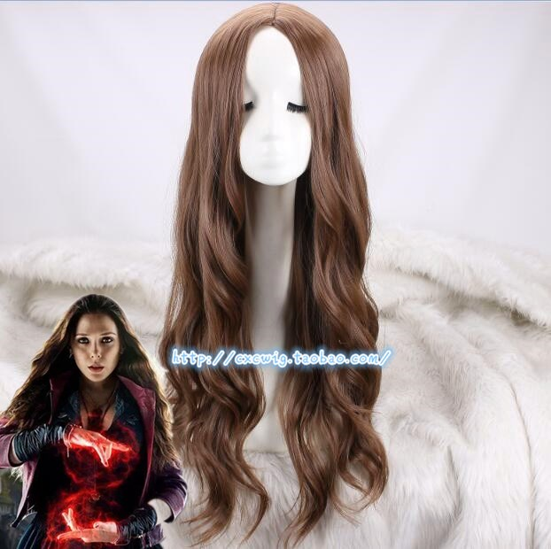 Image 1 - Cosplay Wig Scarlet Witch Wanda Django Maximoff Wavy Long Synthetic Hair for Adult-in Anime Costumes from Novelty & Special Use