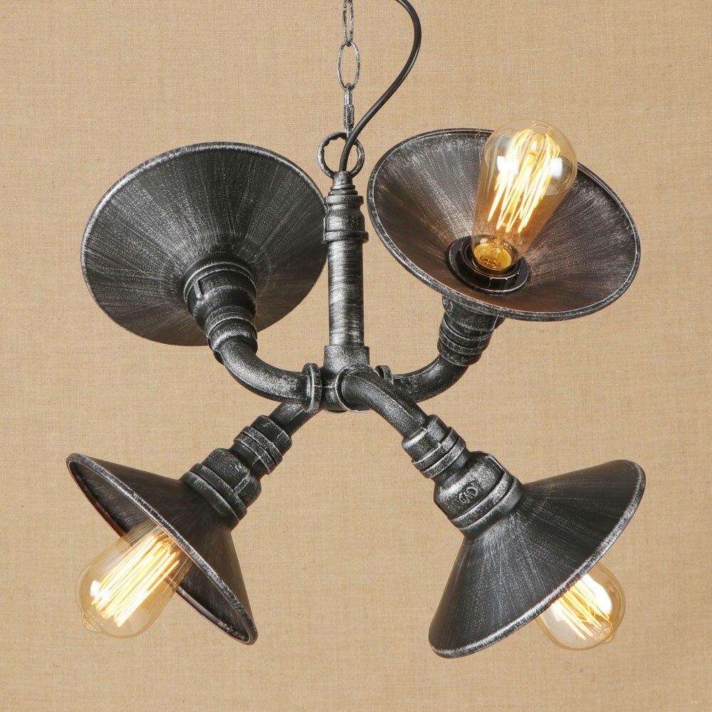 Vintage Iron Speaker Pendant Lamp LED Hanging Pendant Light Fixture E27 110V 220V For Cafe Lights Bar Study Bed Room Restaurant