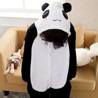 Fotografia Kid Chłopcy Dziewczyny Ubrania i Zabawy Kapturem Piżamy Pijamas Piżamy Flanelowe Piżamy Dla Dzieci Cartoon Zwierząt Panda Cosplay