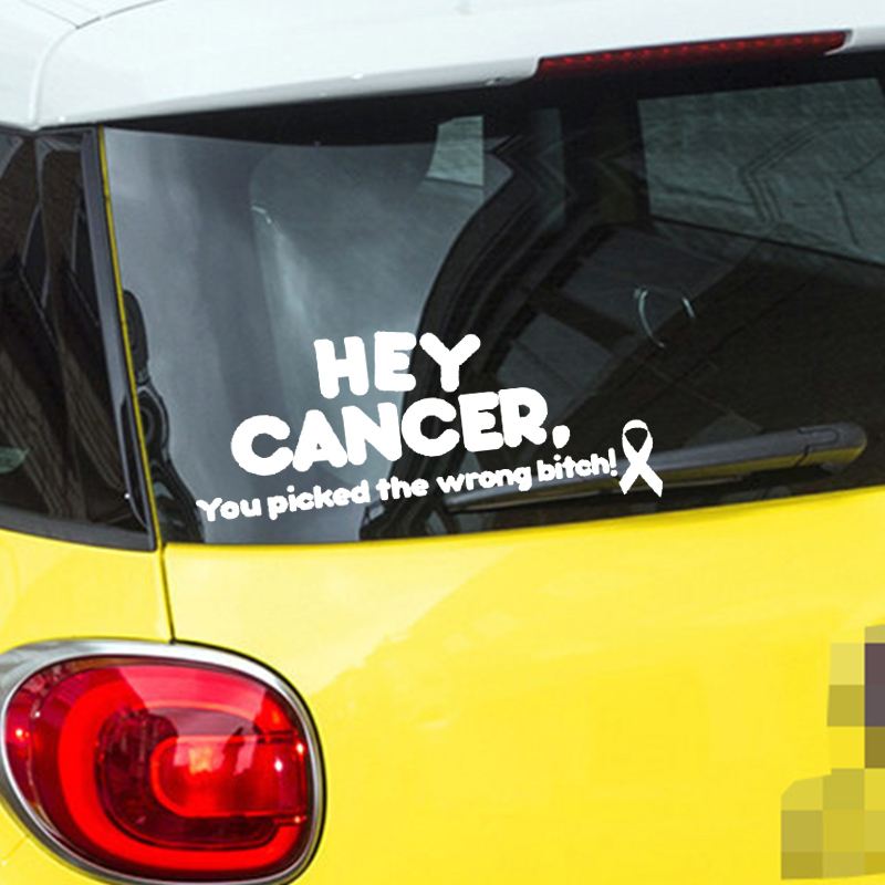 TEAL Ribbon You Picked Wrong BITCH Ovarian Cancer Car Decal Sticker ...