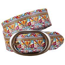 Genuine Multicolor Fashionable Leather Belts For Women