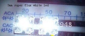 150 шт 3 мм Пиранья, мощный поток белый светодиодный долгую жизнь хорошего качества
