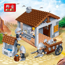 [small particles] castle series gifts buoubuou puzzle toy weapons shop 8266 toy bricks