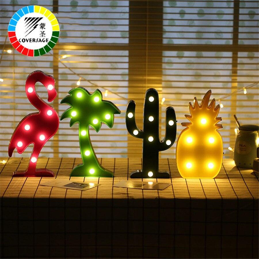Coversage Led Nuit Lumière 3D Décoratif Lampe de Table De Noël Arbre Chambre Batterie Nouveaux Lumières Décoration Luminaria De Bureau Enfant