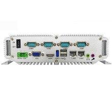 Aucun moniteur 4Gb ram 64Gb SSD ordinateur industriel 2 lan ordinateur industriel avec Intel Celeron N2930 Quad Core CPU sans ventilateur mini PC
