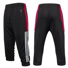 Мужские футбольные тренировочные штаны 3/4, спортивные штаны для бега, йоги, фитнеса, пешего туризма, тенниса, баскетбола, футбола, бега, спортивные штаны, дышащие
