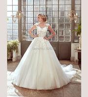 New Model Custom Made High Quality Organza Transparent Tank Back Elegant Wedding Dress Bridal Gowns ZH0372