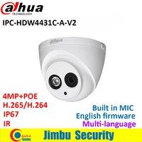 2016 Newest Arrival Dahua IPC HDW4431C A 4MP Full HD Network IR Mini Camera POE Built