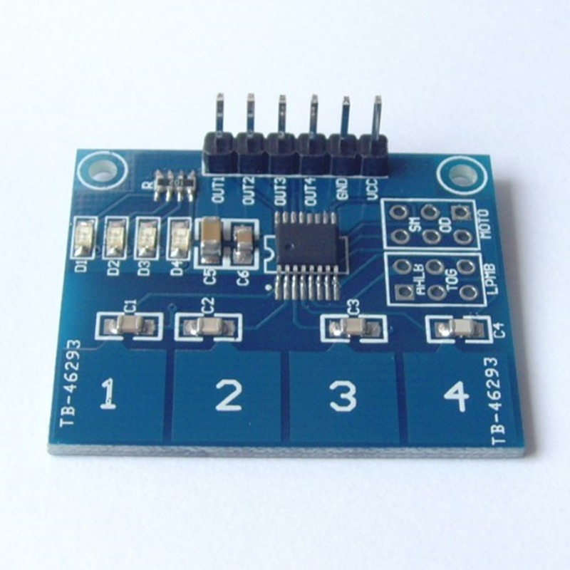 TTP224 4 Channel Capacitive Touch Switch Digital Touch Sensor Module 4 Button