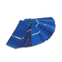 Panel de celdas solares de silicio policristalino, cargador de energía Solar DIY, 52x19mm, 0,5 V, 0,16 W, 50 unids/lote