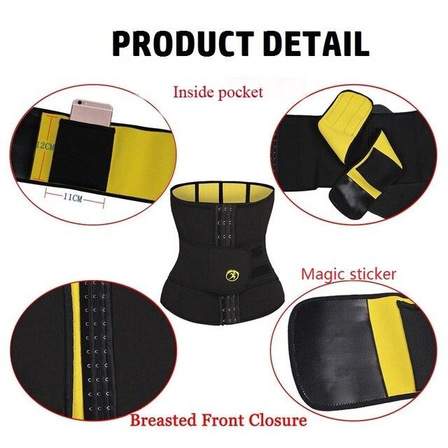 NINGMI Males Modeling Belt Slimming Waist Trainer Mens Body Shaper Corset Neoprene Shapers Tummy Trimmer Shapewear Cincher Strap 4