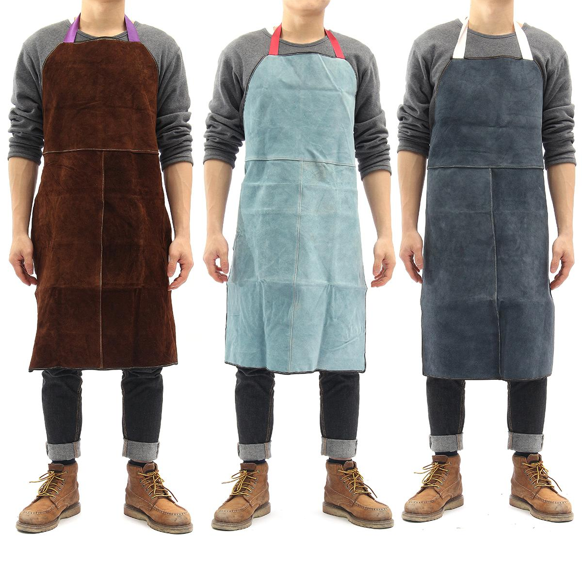 Safurance Welding Equipment Welder Heat Insulation Protection Cow Leather Apron 60x90cm  Workplace Safety