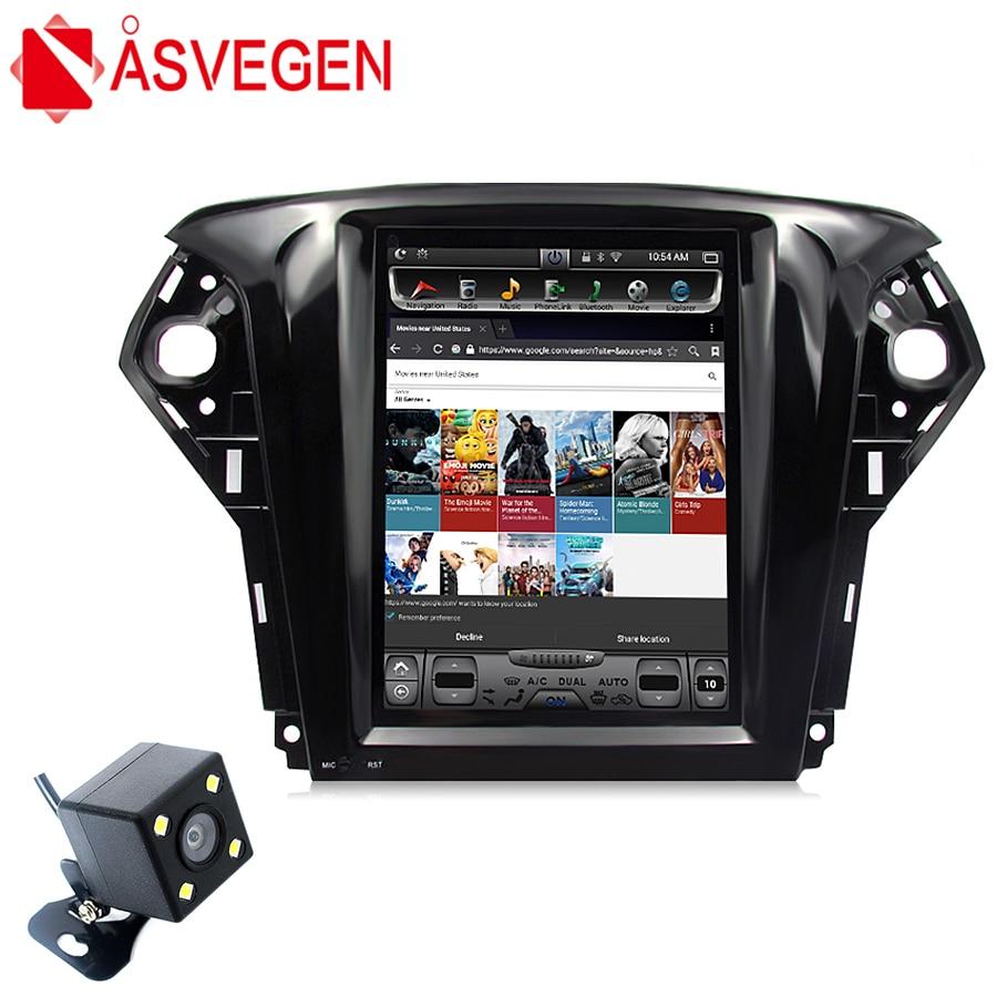 Asvegen pour Ford Mondeo 2011-2013 10.4 ''1 Din Android 6.0 Quad Core voiture GPS Navigation stéréo Autoradio lecteur DVD multimédia