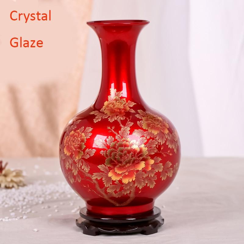Online Shop Antique Jingdezhen Chinese Ceramic Red Vase Wedding