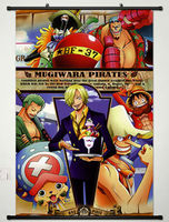 Home Decor Anime One Piece Wall Scroll Poster Fabric Painting 130
