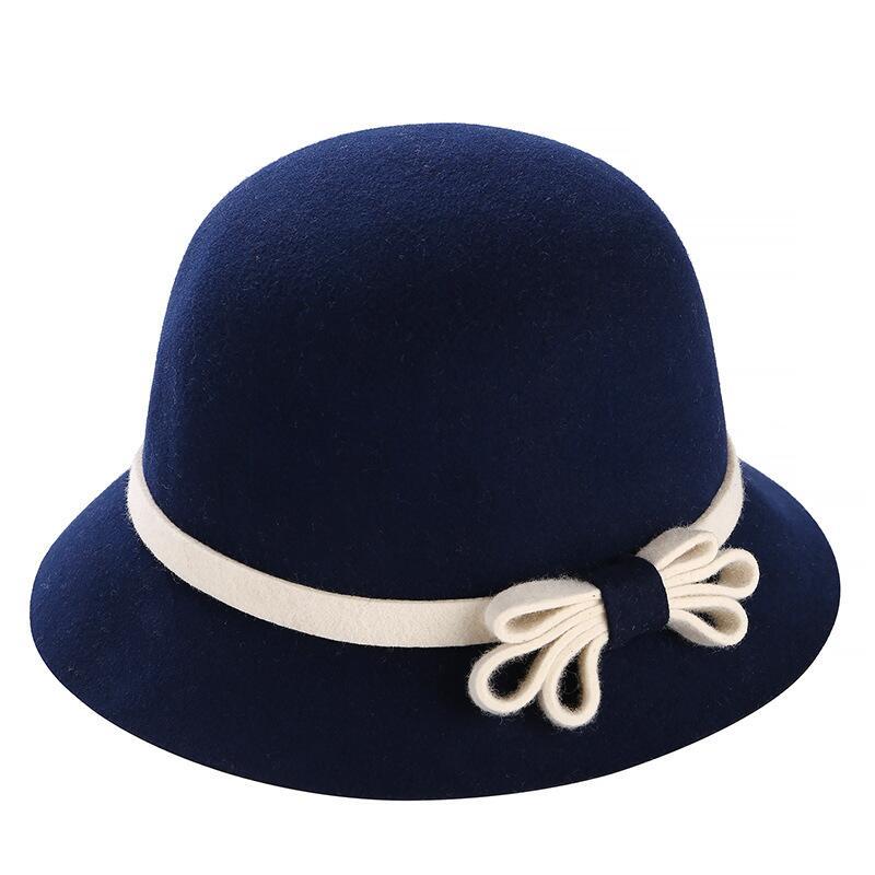 Chapeau Fedora orné d'un nœud