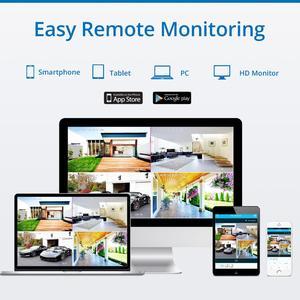 Image 5 - Камера Наружного видеонаблюдения SANNCE, беспроводная камера безопасности, 8 каналов, 1080 пикселей, 2 Мп, NVR, IP, для использования в помещении и на улице, IP, комплект видеонаблюдения