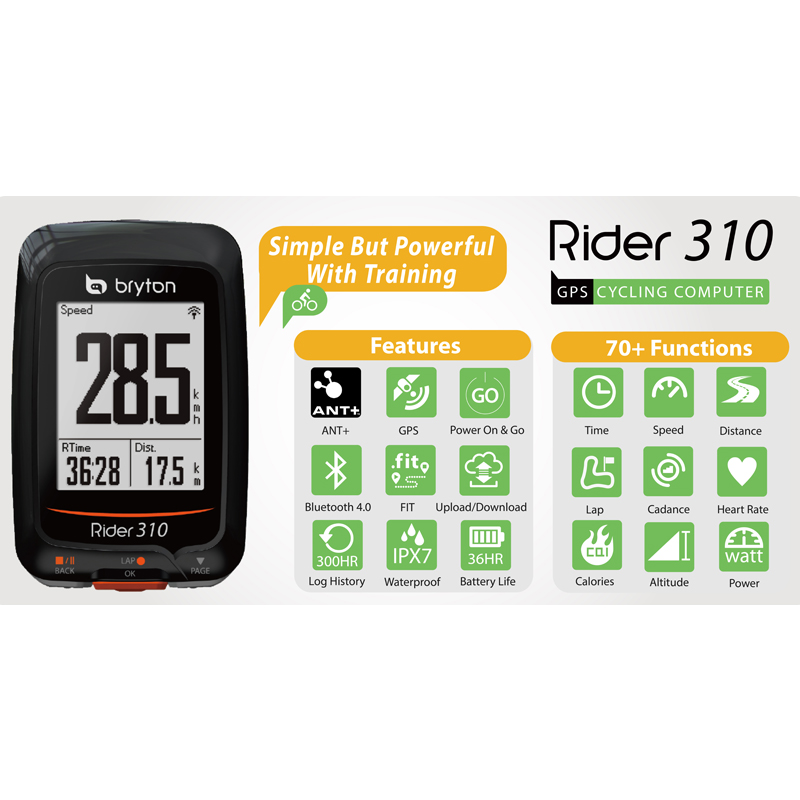 Bryton Rider 310 Enabled Waterproof GPS Bike bicycle computer speedometer garmin 200 520 820 1000 mount garmin edge 810 gps enabled bicycle computer bike computer waterproof bicycle speedometer velocimetro bicicleta