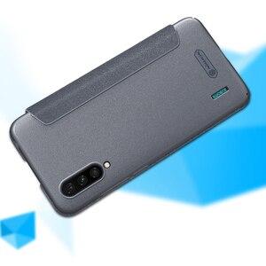 Image 3 - For シャオ mi mi CC9 mi A3 フリップ革ケース Nillkin スパークルシリーズハードプラスチック PU 電話カバーシャオ For mi mi CC 9e ケース